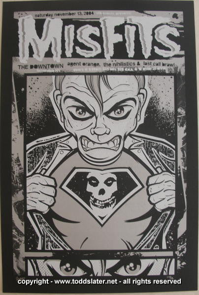 2004 The Misfits Silkscreen Concert Poster by Todd Slater