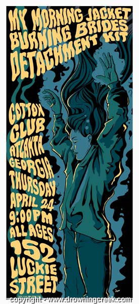2003 My Morning Jacket Silkscreen Concert Poster - Jason Cooper