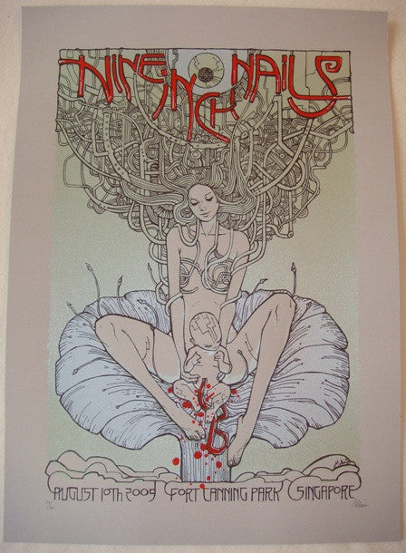 2009 Nine Inch Nails - Singapore Concert Poster by Malleus