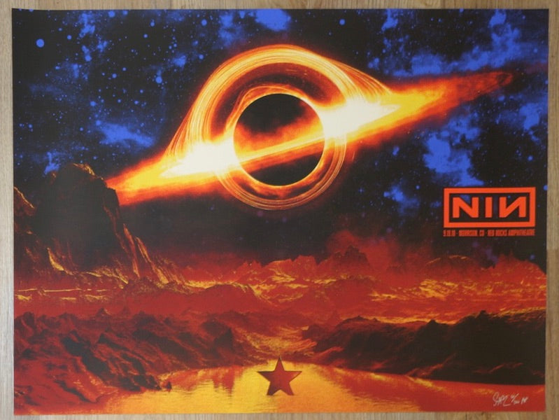 2018 Nine Inch Nails - Red Rocks II Silkscreen Concert Poster by Todd Slater