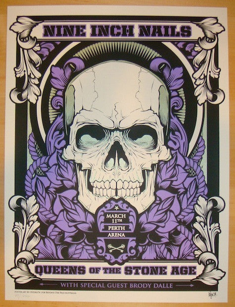 2014 Nine Inch Nails - Perth Concert Poster by Hydro74