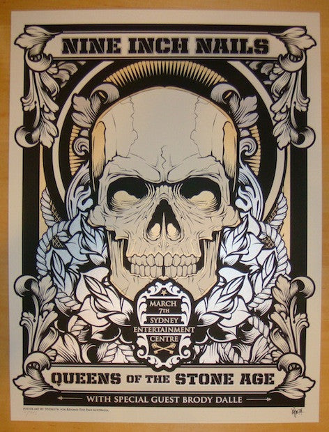 2014 Nine Inch Nails - Sydney II Concert Poster by Hydro74