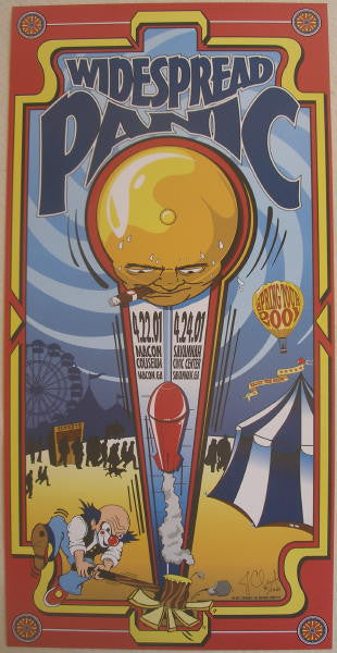 2001 Widespread Panic - Macon/Savannah Concert Poster - Clements