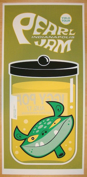 1998 Pearl Jam - Noblesville Silkscreen Concert Poster by Ames
