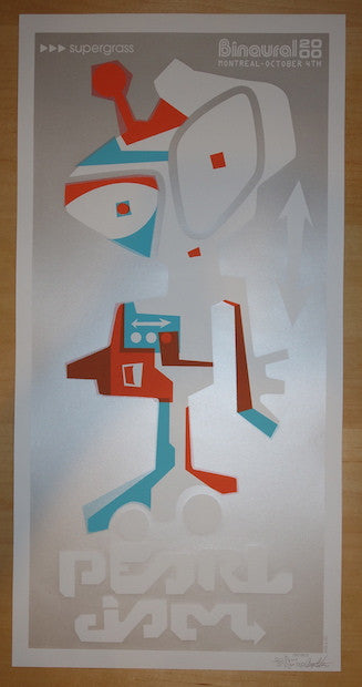 2000 Pearl Jam - Montreal Silkscreen Concert Poster by Ames AP