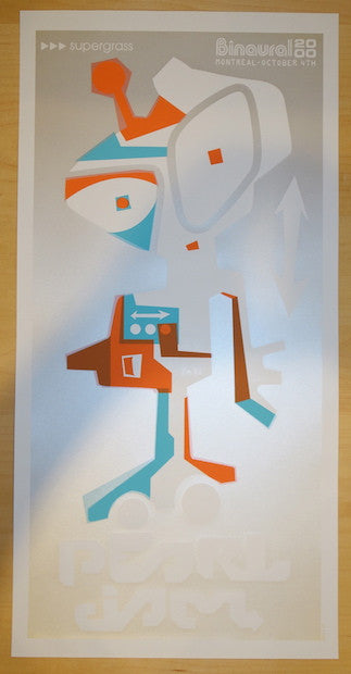 2000 Pearl Jam - Montreal Silkscreen Concert Poster by Ames