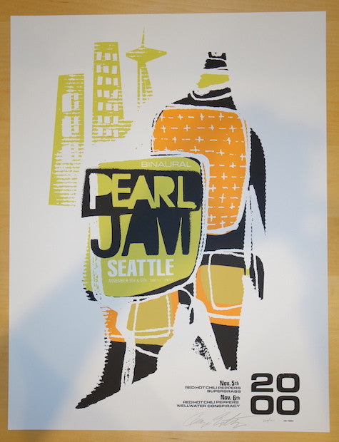 2000 Pearl Jam - Seattle Silkscreen Concert Poster by Ames AP
