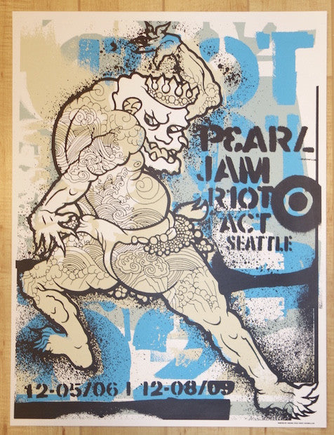 2002 Pearl Jam - Seattle II Silkscreen Concert Poster by Ames