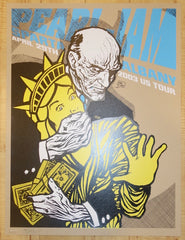 2003 Pearl Jam - Albany Silkscreen Concert Poster by Ames AP