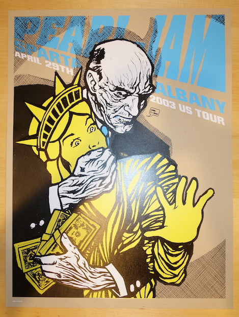 2003 Pearl Jam - Albany Silkscreen Concert Poster by Ames