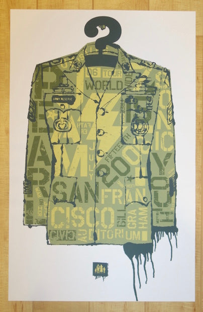 2006 Pearl Jam - San Francisco I Silkscreen Concert Poster by Ames