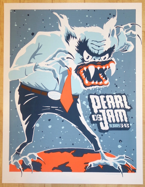 2006 Pearl Jam - Albany Silkscreen Concert Poster by Ames AP