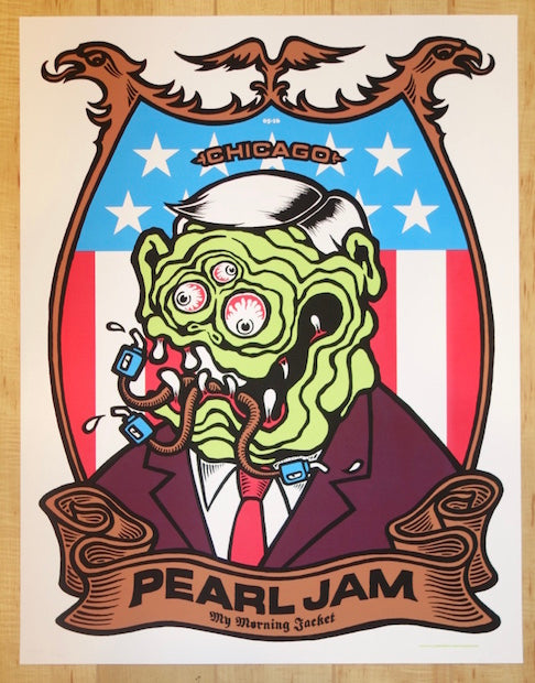 2006 Pearl Jam - Chicago I Silkscreen Concert Poster by Ames AP