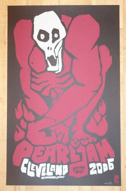 2006 Pearl Jam - Cleveland Silkscreen Concert Poster by Ames AP