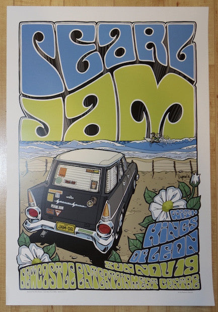 2006 Pearl Jam - Newcastle Concert Poster by Daymon Greulich