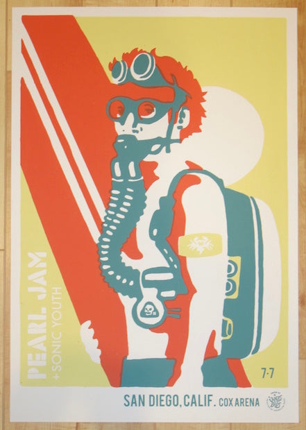 2006 Pearl Jam - San Diego Silkscreen Concert Poster by Ames AP