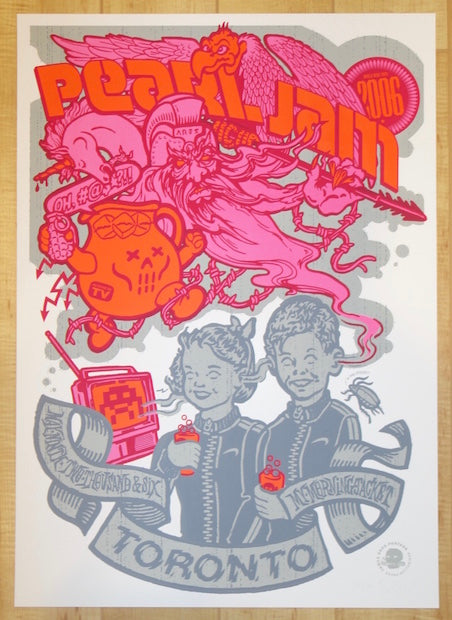 2006 Pearl Jam - Toronto I Silkscreen Concert Poster by Ames AP