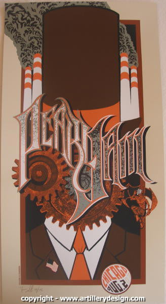 2007 Pearl Jam - Chicago Concert Poster by Brad Klausen AP