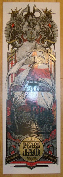 2012 Pearl Jam - Isle of Wight Poster by Taylor & Cooper AP