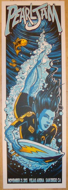 2013 Pearl Jam - San Diego Concert Poster by Brandon Heart