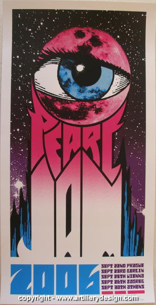2006 Pearl Jam - Europe Concert Poster by Brad Klausen