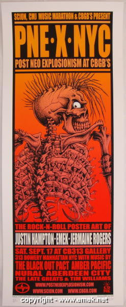 2005 PNE x NYC at CBGB's Silkscreen Event Poster by Emek