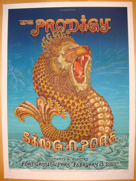 2009 The Prodigy - Singapore Silkscreen Concert Poster by Emek