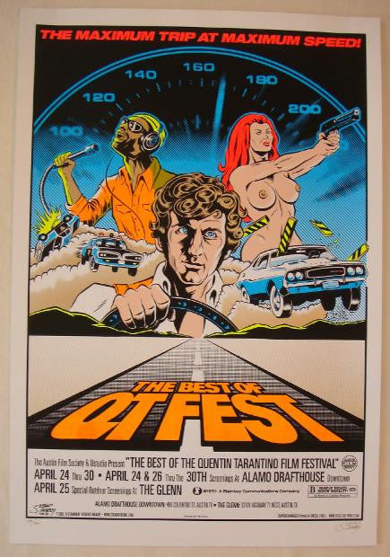 "2006 ""Best of QT Fest"" - Silkscreen Movie Poster by Stainboy"