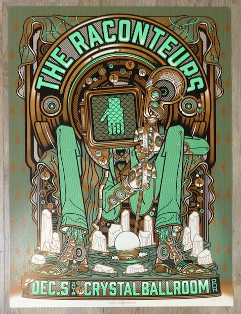 2019 The Raconteurs - Portland Silkscreen Concert Poster by Guy Burwell