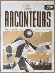 2019 The Raconteurs - Raleigh Silkscreen Concert Poster by John Knoerl