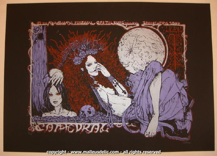 2009 Cathedral - Roadburn Festival Concert Poster by Malleus