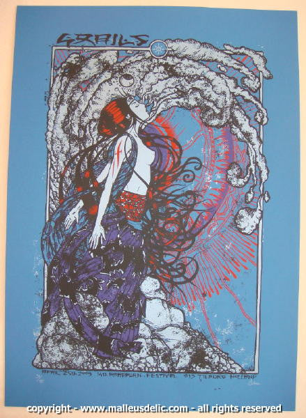 2009 Grails - Roadburn Festival Concert Poster by Malleus