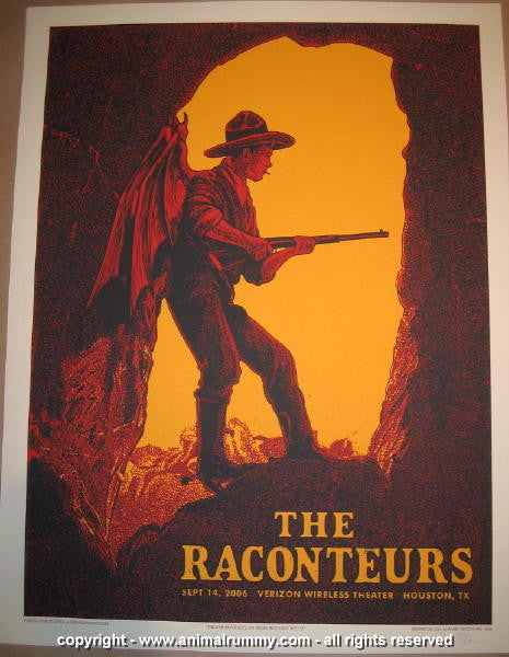 2006 The Raconteurs - Houston Concert Poster by Rob Jones