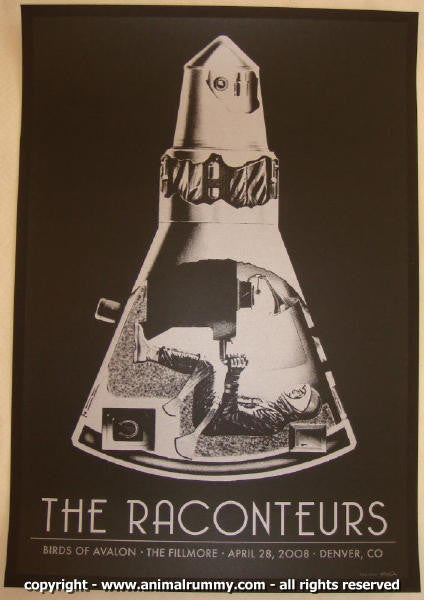 2008 The Raconteurs - Denver Concert Poster by Rob Jones