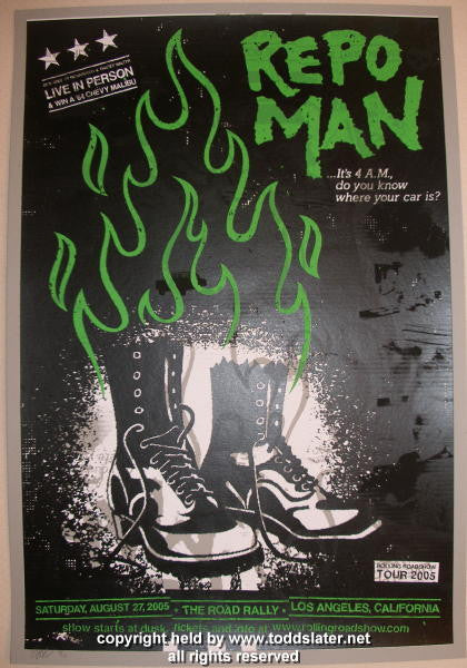 "2005 ""Repo Man"" - Silkscreen Movie Poster by Todd Slater"