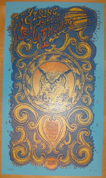 2011 String Cheese Incident - NYC Concert Poster by David Welker