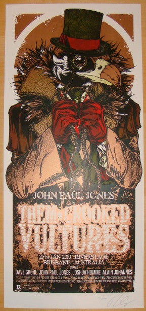 2010 Them Crooked Vultures - Brisbane Concert Poster by Cooper
