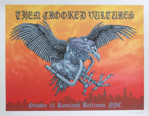 2009 Them Crooked Vultures - Silkscreen Concert Posters by Emek