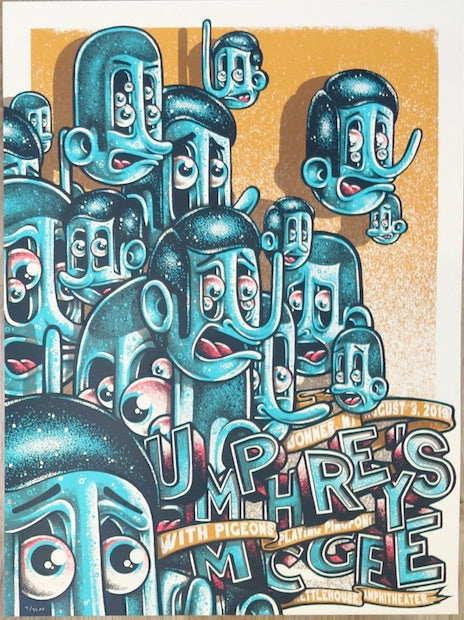 2019 Umphrey's McGee - Bonner Silkscreen Concert Poster by Twin Home Prints