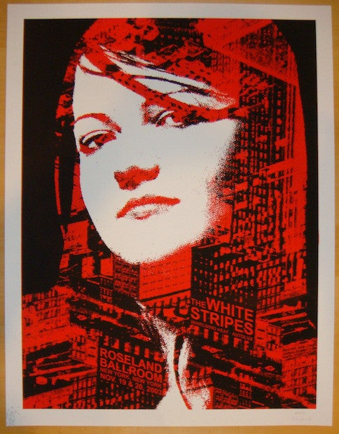 2003 The White Stripes - NYC II Silkscreen Concert Poster by Rob Jones