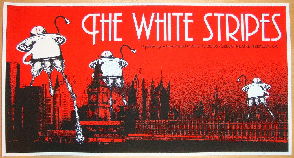 2005 The White Stripes - Berkeley II Concert Poster by Rob Jones