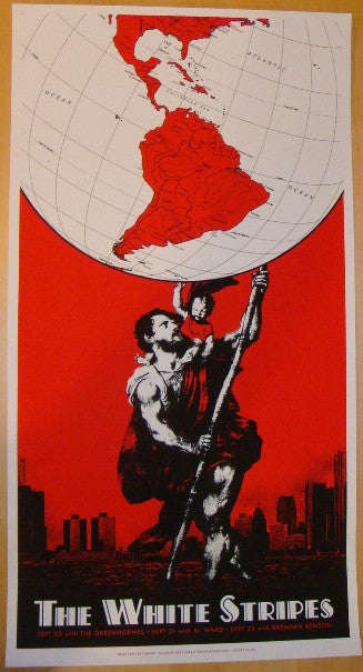2005 The White Stripes - Boston Concert Poster by Rob Jones