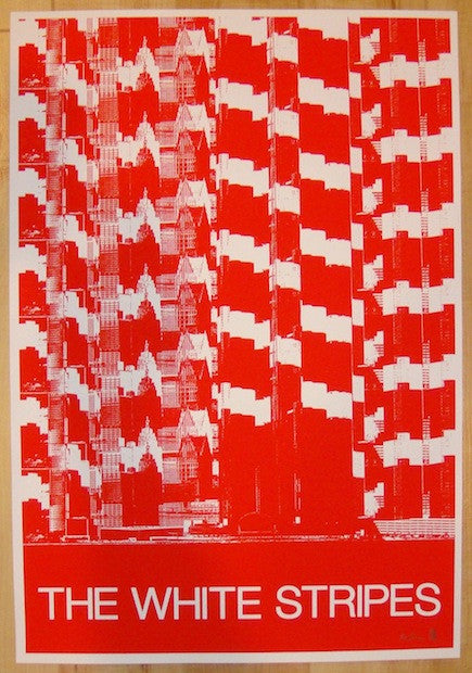 2005 The White Stripes - European Tour Test Print by Rob Jones