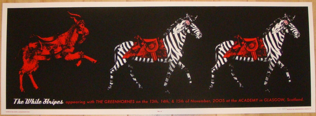 2005 The White Stripes - Glasgow Concert Poster by Rob Jones