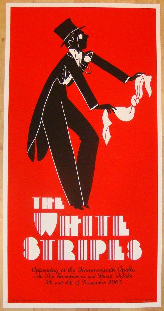 2005 The White Stripes - London I Concert Poster by Rob Jones