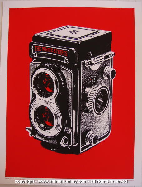 2007 The White Stripes - LA Concert Poster by Rob Jones