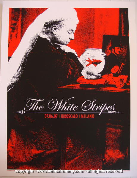 2007 The White Stripes - Milan Concert Poster by Rob Jones