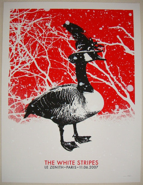 2007 The White Stripes - Paris Meg Concert Poster by Rob Jones