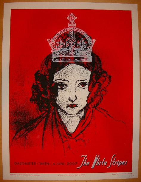 2007 The White Stripes - Vienna Concert Poster by Rob Jones