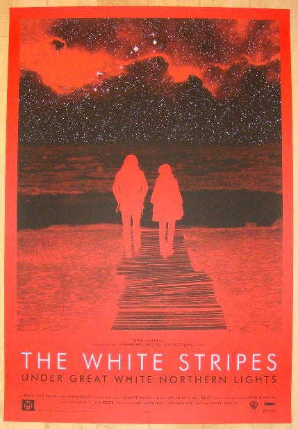 2009 The White Stripes - Silkscreen Movie Poster by Rob Jones